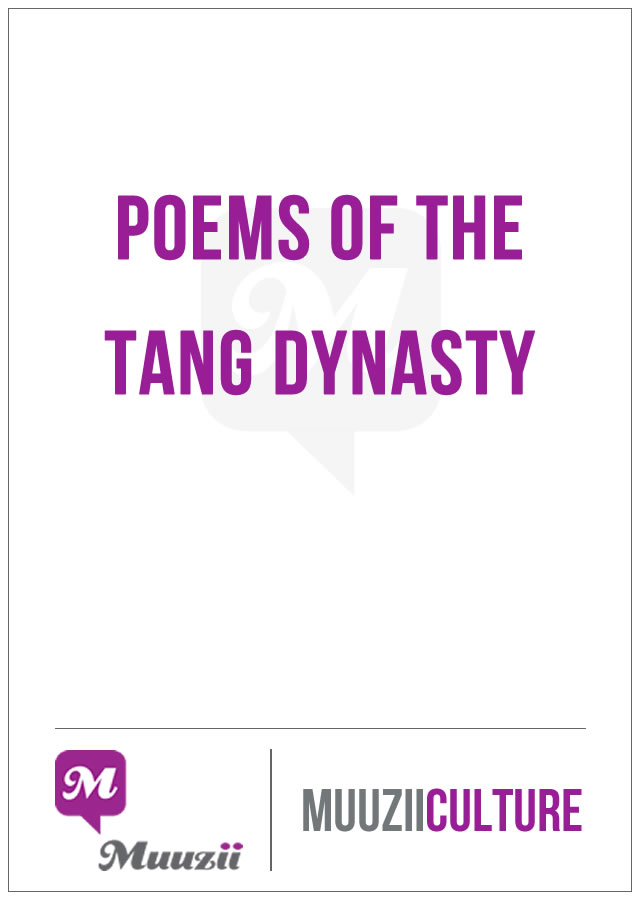 Poems of the Tang Dynasty1
